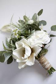 white wedding bouquets white wedding bouquet greenery succulent bridal bouquet silk