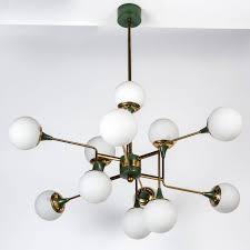 Globes For Chandelier Stilnovo 12 Globe Chandelier Globe Chandeliers And Lobby Furniture