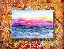 italy sketches sorrento sunset painting by irina sztukowski