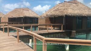 overwater bungalows sandals royal caribbean youtube