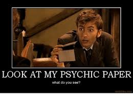 Psychic Meme - look at my psychic paper what do you see motifake com meme on