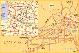 Map Of Rocky Point Mexico by Santa Fe Tourist Map Santa Fe New Mexico U2022 Mappery