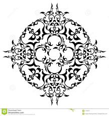 black ornamental design royalty free stock photography image