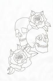 skull outline skulls and roses outline by lou987 monkey