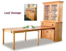 Kitchen Table With Storage Cabinets by Pull Out Dining Table Mission Pullout Console Table With Hutch