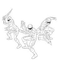 ninja storm power rangers coloring pages boys super heroes