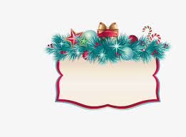 christmas border bell bow png and vector for free download
