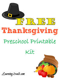free thanksgiving preschool printable pack to use now