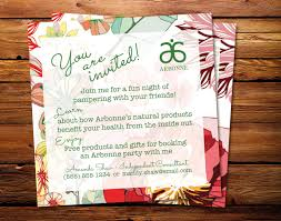 interesting arbonne party invitation sample launch party examples