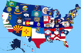 United States On A Map by State Flag Adoption Dates Collins Flag Blog