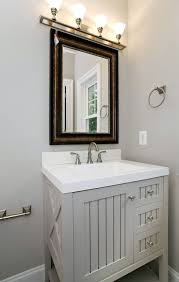 4 Bathroom Vanity Cottage Powder Room With Simple Marble Powder Room In Arlington