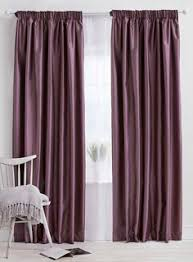 Plum Faux Silk Curtains Meadowfield Lined Pencil Pleat Curtains Home Essentials