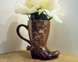 Cowboy Boot Planter boot mug etsy