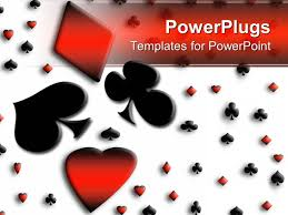 Playing Card Design Template Powerpoint Template Colored Playing Card Symbols Spade Love And