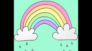 how to draw a rainbow and clouds beginners drawing tutorial of