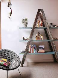 Build A Simple Wood Shelf Unit by Step Up 22 Ways To Repurpose An Old Ladder Board Repurpose And