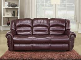 Burgundy Living Room Furniture by Amazon Com Meridian Furniture Nailhead Reclining Sofa Burgundy