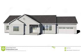White House With Black Trim Ranch House White Stock Illustration Image 55857356