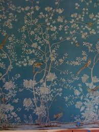 de gournay custom hand painted wallpaper on silk traditional