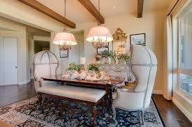 french style dining with medium wood dining table dining room
