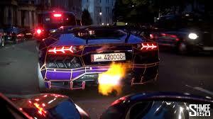 Lamborghini Aventador Tron - tron aventador fires epic flames youtube