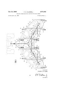 patent us3473302 tractor drawn multiple section foldable mower