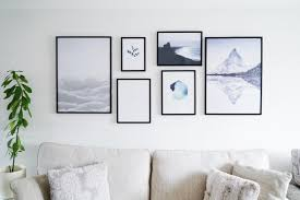 home is where the art is styling a gallery wall with desenio
