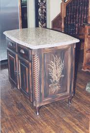 stunning black wooden color distressed kitchen island features furniture stunning black wooden color distressed kitchen island features white color granite countertop and double