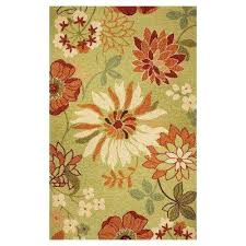 Flower Area Rugs by Green Floral Outdoor Rugs Rugs The Home Depot