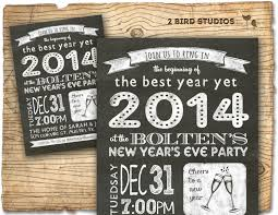 invitations for new years eve party new years invitation 2014 holiday party chalkboard