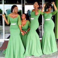 african design mermaid long bridesmaid dresses 2017 half long