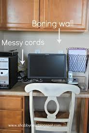 how to hide cords on desktop decorative desk decoration