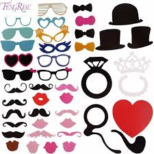 diy photo booth props aliexpress buy fengrise mr mrs 44pcs photo booth props