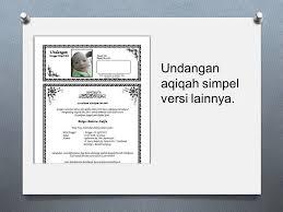 contoh undangan acara aqiqah kelahiran bayi