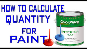 how to calculate quantity of paint youtube