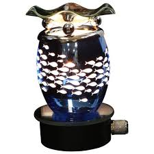 plug in candle night light blue fish plug in scented oil warmer burner night light dimmer