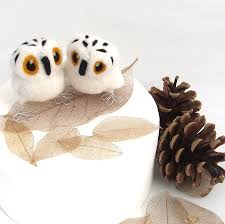 owl cake toppers mini owl wedding cake topper by feltmeupdesigns