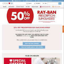 50 Lenses Rx Coupon Promo 50 Ban Prescription Sunglasses At Opsm In Store Only