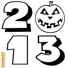 halloween 2013 dessin imprimer date dessins citrouilles coloriage