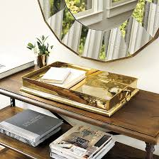 Brass Tray Table Harlow Brass Tray Ballard Designs