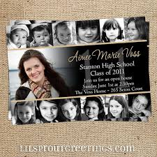 graduation invitations ideas collage style graduation announcement by lilsproutgreetings