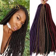 best hair for faux locs verves 18 inch crochet hair faux locs dreadlocks braids havana mambo