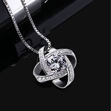 necklace zirconia images B catcher women sterling silver necklaces 925 silver jpg