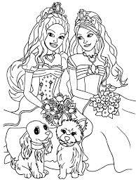 barbie coloring barbie friends coloring dibujos nia