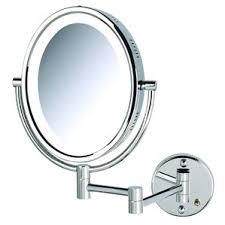Lighted Wall Mount Vanity Mirror 360 Degree Swivel Bathroom Mirror Wayfair