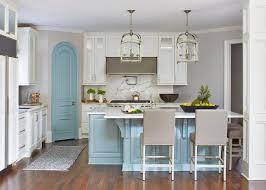 white kitchen cabinets with aqua backsplash transitional open concept kitchen with aqua blue island