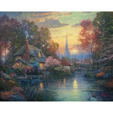 moonlight cottage limited edition the kinkade company