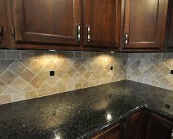 Backsplash For Black Granite by Remarkable Black Granite Countertops With Tile Backsplash On