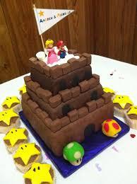 Wedding Cake Castle Andy And Michelle U0027s Wedding Cake Super Mario Bros Castle U2026 Flickr