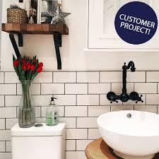 Bathroom White Brick Tiles - white gloss smooth brick tiles brick tiles 200x100x7mm tiles